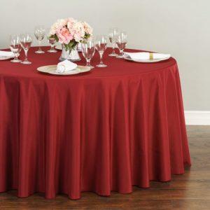 Burgundy_tablecloth