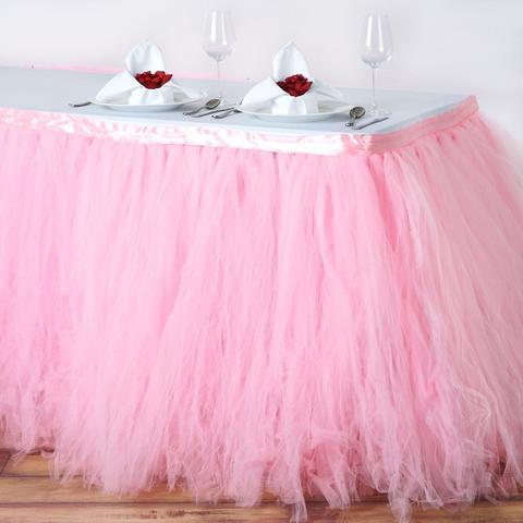 fluffy table skirt